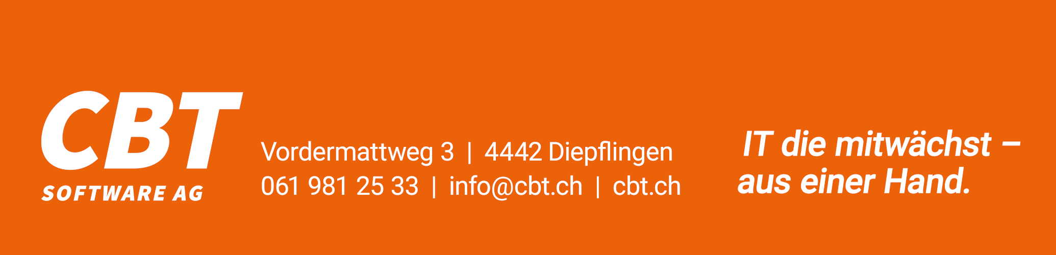 Filmsponsor 2020: CBT Software AG
